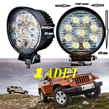 1 ADET 9 LED Off Road Sis Farı Sis Lambası  Tepe Lambası
