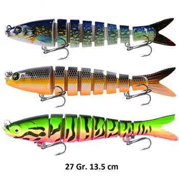Lures Sahte Balık Yemi  Rapala Yem Turna Sahtesi , Olta ,Sasi Yem LR-62