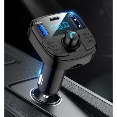 FM Transmitter Bluetooth Araç Çakmaklık Mp3 Çalar  Usb Bellek Girişli Araç Kiti Şarj Aleti Aux