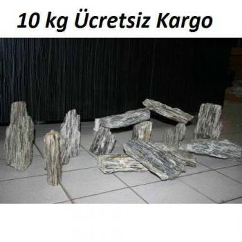 10 kg Gnays Kaya Orijinal 1.Kalite Doğal Dekoratif Simli Gnays