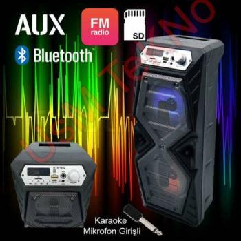 Kabinli Bluetooth Ses Bombası Usb Hafıza Kartı Micro Cd Girişli mp3 Çalar Fm Radyo Çalar