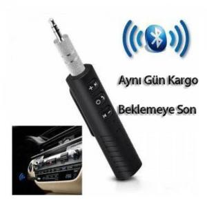 Bluetooth Araç Kiti Car Bluetooth Aux Transmitter 3.5mm Mini Bluetooth 4.1 Dahili Mikrofonlu