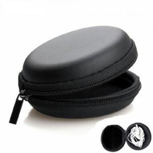 Kulaklık Taşıma Çantası Deri Fermuarlı Mini Kulaklık Şarj Çanta, Kulaklık Taşıma Çantası