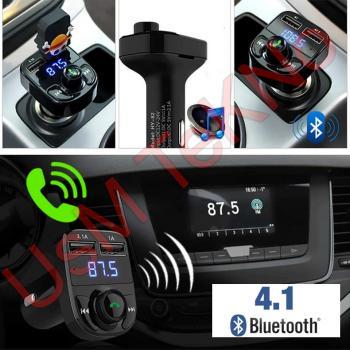 FM Transmitter Mp3 Çalar Bluetooth Araç Kiti Çakmaklık Girişli Usb Bellek Araç Şarj Aleti Aux Kablo