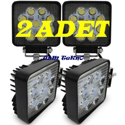 2 ADET 9 LED Off Road Sis Farı Sis Lambası Gemi Tekne Yat Farı