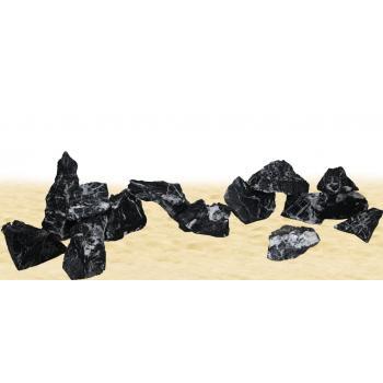 1 Kg Gnays Kaya  Black angel rock 1. Kalite Doğal Dekoratif Siyah Gnays Kaya