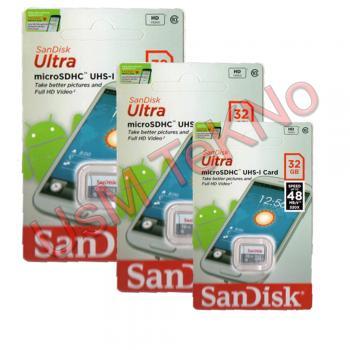 Sandisk 32 Gb  Hafıza Kartı 10 Class  Micro Sd Hafıza kartı , Tft cd Hafıza Kartı