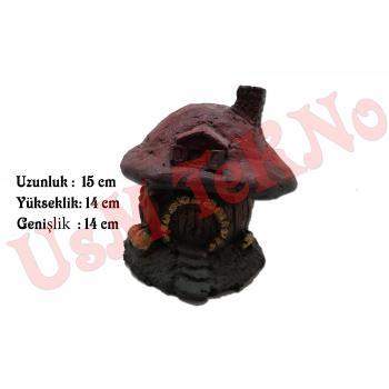 Akvaryum Dekoru Mantar Ev Model 15X14X14 cm, Akvaryum Mantar Ev, Akvaryum Aksesuarı