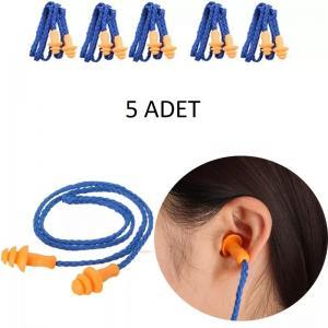 Kulak Tıkacı 5 Adet Yüzme Sporları Su Geçirmez Slikon Kulak Tıkaç