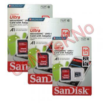 Sandisk 64 Gb Hafıza Kartı 10 Class Micro Sd Hafıza kartı , Tft cd Hafıza Kartı