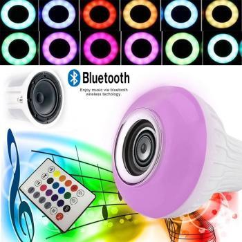 Bluetooth Mp3 Çalar Wrilees Kumandalı Rgb Led Ampul Kumandalı Avize Ampulü