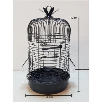 Silindir Kafes Muhabbet Kuşu Kafesi Papağan Kanarya Kafesi 40x25cm