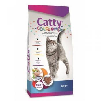 Catty Colour Mix Yetişkin Kedi Maması 15 KG ( Aynı GÜn Kargo) (Balık ,Sebze , Tavuk İçerikli )