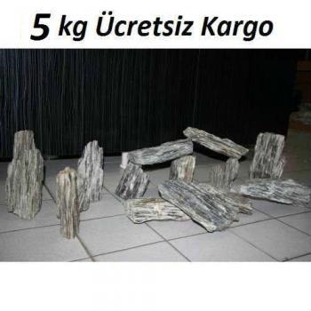 5 kg Gnays Kaya Orijinal 1.Kalite Doğal Dekoratif Simli Gnays Kaya