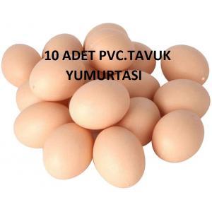 10 Adet Sahte Tavuk Yumurtası ' Tavuk Yapay Yumurta ( Sarı -Beyaz)