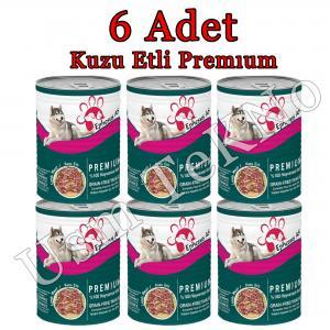 Ephesus as 415grx 6 Adet Kuzu Etli  Premium Köpek Konservesi, Yaş Mama