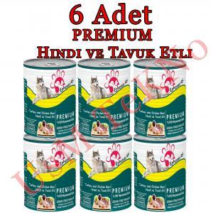 Ephesus as 415grx 6 Adet Premıum Hindi ve Tavuk Köpek Konservesi, Yaş Mama