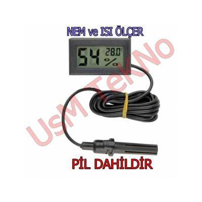 Kuluçka Nem Ölçer Termometre Problu Dijital Higrometre Termometre Dijital Termometre ,Isı Derece