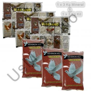 6 Kg Güvercin Minerali Ve Kili Tavuk Keklik Güvercin Kaz Bıldırcın Minerali
