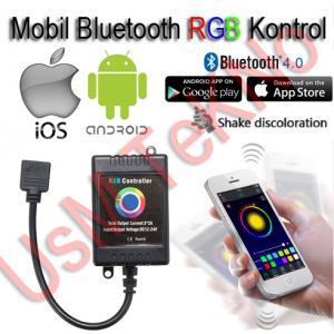 Android ve İos Uyumlu Bluetooth RGB Kontrol Şerid Led Kumanda