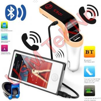 Araç Çakmaklık Mp3 Çalar Bluetooth Araç Kiti Fm Transmitter