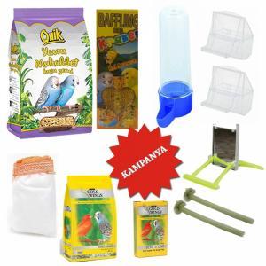 Muhabbet Kuşu İhtiyaç Seti   11 Parça  , Kuş Yemi, Kuş Oyuncakları Seti, Kuş Kafesi Seti