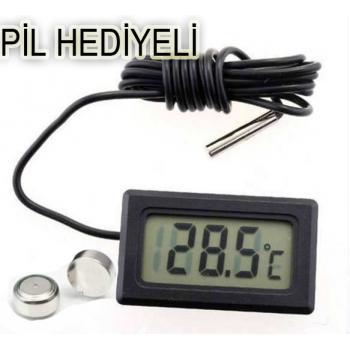 Dijital Derece Termometre -50ve+100 Derece Kadar Akvaryum,Mutfak