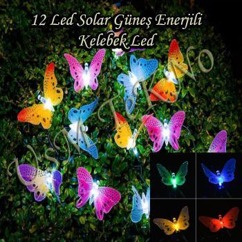 Güneş Enerjili ,Yılbaşı Ağacı Lambası,Kelebek Bahçe Lambası,