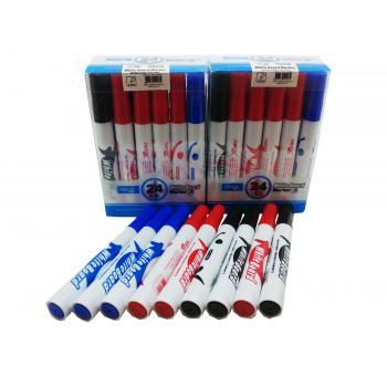 48 Adet Beyaz Tahta Kalemi, Kartuşlu Kalem, Nerox White Board  Marker