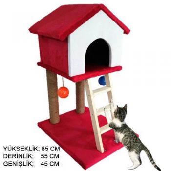 Kedi Evi Kedi Kulübesi Kedi Tırmalama Evi Kedi Oyuncaklı Ev
