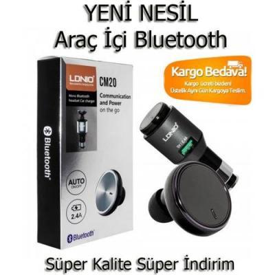 Ldnio Cm20 Bluetooth Araç Kiti , Araç Şarj Cihazı ,Bluetooth