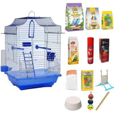 Set Muhabbet Kuşu Kafesi,1 Ev Modelli Kafes , Kanarya Kafesi, Hin Bülbülü Kafesi, Kuş Kafesi,