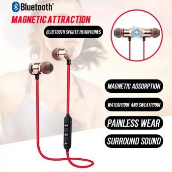 Mikrofonlu Manyetik Bluetooth Kulaklık Stereo mp3 Çalar Kulaklık