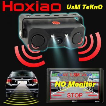 Oto Araç Park Sensörü + Gece Görüşlü HD Araç Geri Görüş Kamera
